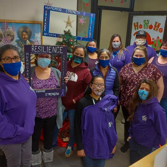 Health & Wellness wear purple for Family Violence Awareness