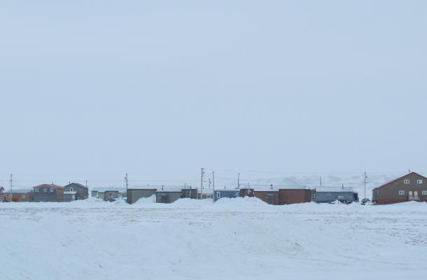 A view of Paulatuk in the winter.