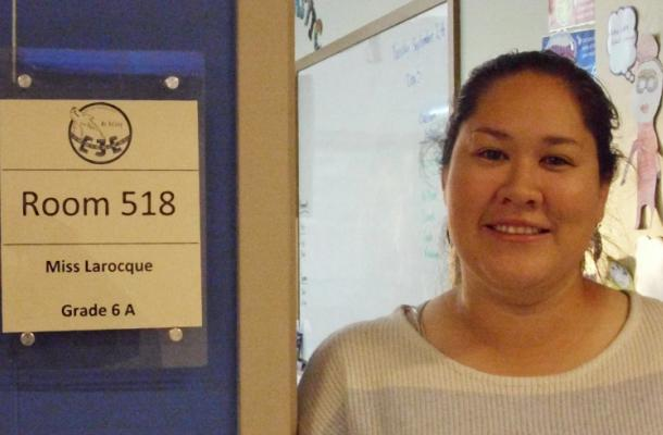 Courtney Larocque is grade 6 teacher at East Three Elementary School in Inuvik.