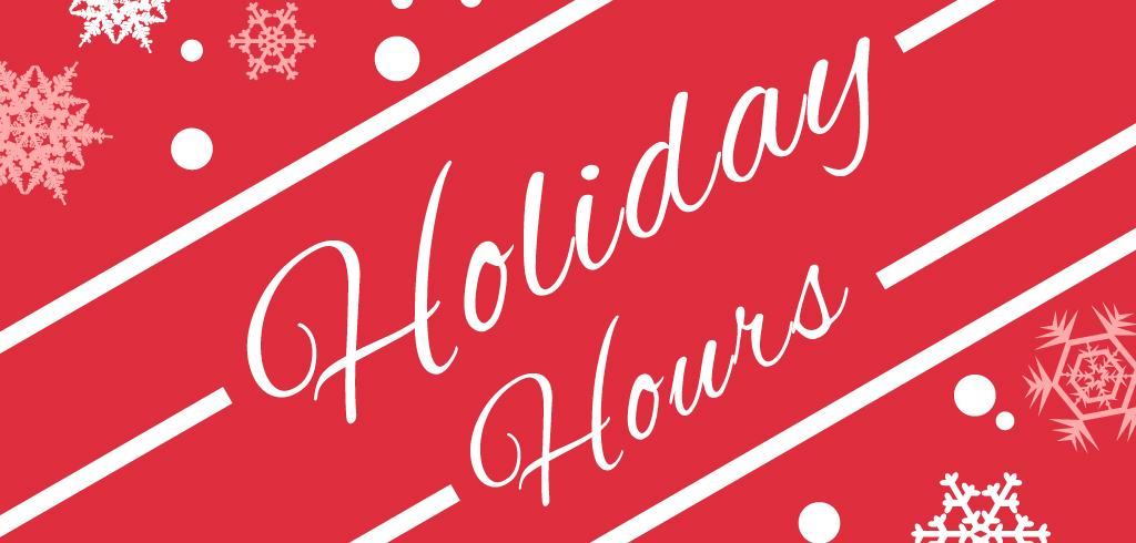 Holidays hours at IRC