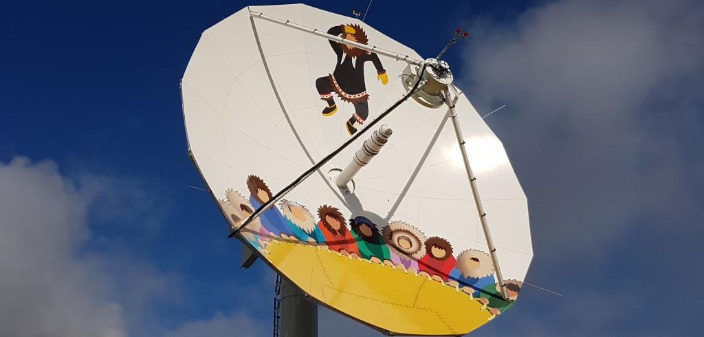 Inuvialuit Blanket Toss. Inuvik Satellite Station Facility.