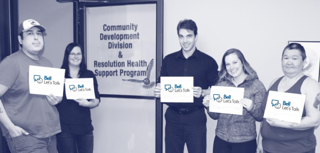 IRC employees show their support for Bell Let's Talk Day