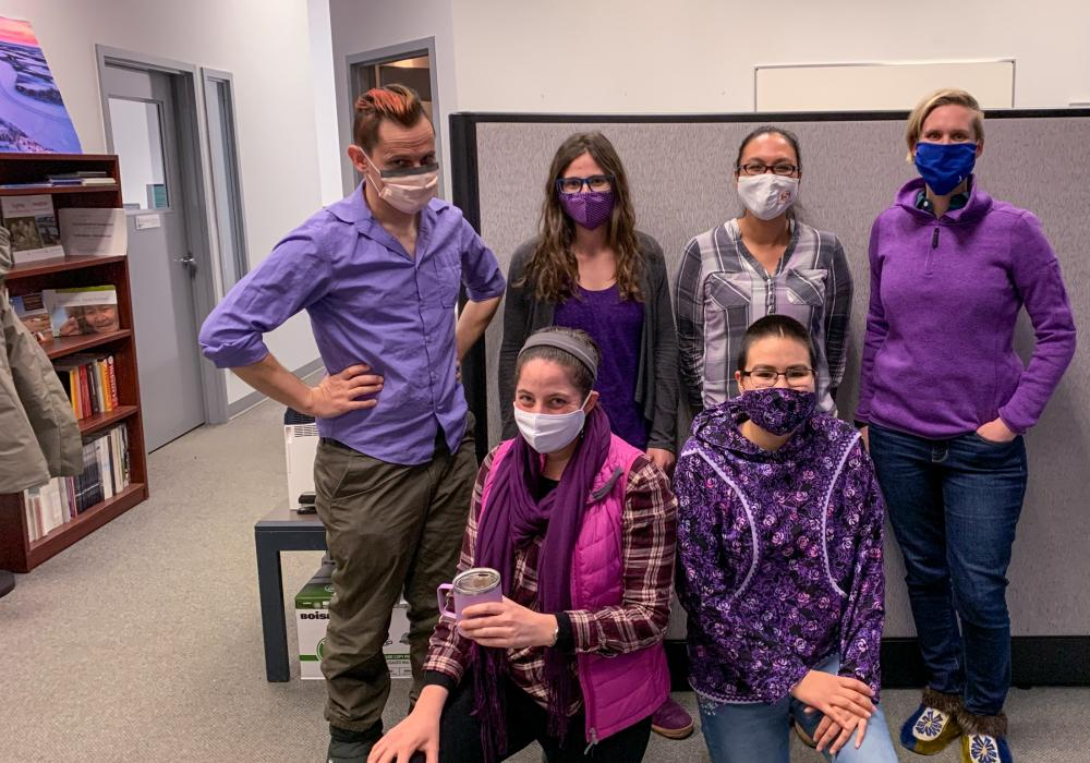 ISCC Division Family Violence Awareness wear purple