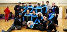 Team NT in Arctic Sports at the 2018 Arctic Winter Games. Photo by Tusaayaksat Magazine.