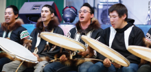 Inuvialuit drum dancing