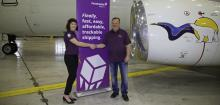 Heather Stewart, President of BBE Expediting and Steve Hankirk, President of Canadian North announce upcoming launch of Fetchable online Northern shipping solution